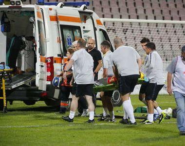 Accident pe terenul de fotbal, la Buzau! Un jucator englez a ajuns in stare grava la...