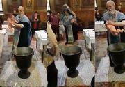 Ancheta in cazul  preotului din Braila care bruscheaza un copil in timpul slujbei de botez