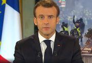 Preşedintele Franţei reacționează după protestele violente de la Paris. Ce decizii va lua Emmanuel Macron, după ce țara a fost destabilizată