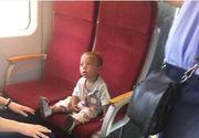 Un copil din Timisoara a fost abandonat in gara? Micutul se plimba buimacit cu trenul si plange dupa parintii lui