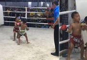 Incredibil! Copii de numai 5 ani din isi cara pumni unii altora, in ringul de box! Cei mici practica Muay Thai, un sport extrem de popular in Thailanda!