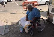 Imagini de groaza in fata unui spital din Galati! Un barbat dezbracat, plin de sange, in carucior cu rotile, a fost abandonat in fata spitalului
