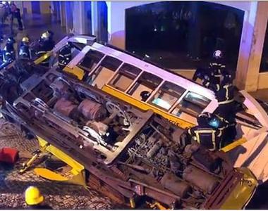 28 de răniţi uşor la Lisabona, în urma deraierii unui tramvai