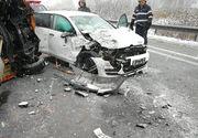 Plan ROȘU de intervenție. Accident grav în Sibiu. Aproximativ 16 persoane sunt implicate. Circulaţia este întreruptă pe ambele sensuri