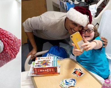 Fostul președinte al Americii a împărțit cadouri copiilor bolnavi dintr-un spital din...