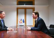 Cancelarul Austriei, vizită oficială în România. Sebastian Kurz are întâlniri cu Klaus Iohannis şi Viorica Dăncilă