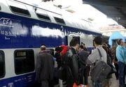 Imagini de coșmar! Aproape o mie de călători în doar două vagoane de tren. O femeie a fost luată cu ambulanța