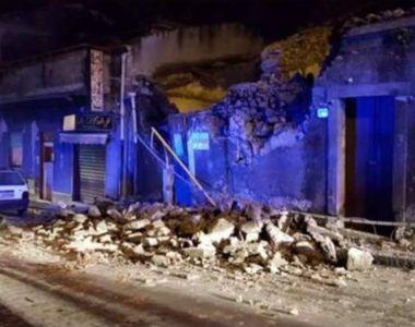 Cutremur în Sicilia cu magnitudine 4,8, ca urmare a erupţiei vulcanului Etna