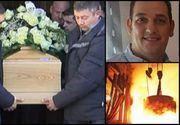 Râuri de lacrimi la înmormântarea românului ars cu oţel topit, în teribilul accident din Italia.  Marian a murit de Crăciun, după 8 luni de chin