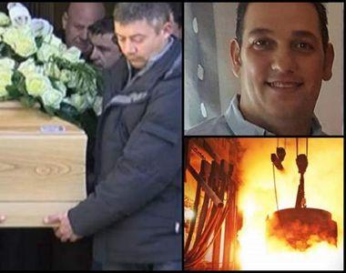 Râuri de lacrimi la înmormântarea românului ars cu oţel topit, în teribilul accident...