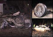 Doi tineri au murit, după ce au făcut prăpăd cu mașina pe un drum județean din Buzău