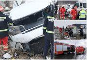 Victimele accidentului de microbuz de la Bascov plecau la muncă, în Cehia. O tânără de 33 de ani e în comă