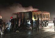 Incendiu pe Autostrada A2 la un utilaj de deszăpezire
