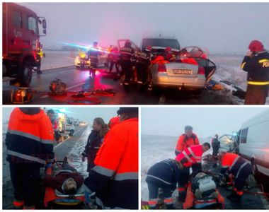Accident GRAV în Orșova! Sunt doi morți după ce două mașini s-au ciocnit frontal