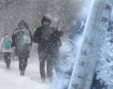 COD GALBEN de ninsori și viscol în mai multe zone din țară, începând din seara aceasta!...