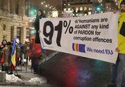 """Protest anti-PSD la Ateneul Român, cu ocazia lansării oficiale a președinției UE: """"Vrem Europa, nu dictatură"""""""