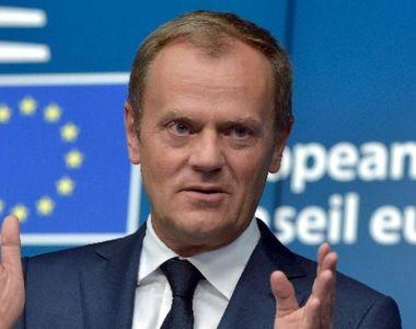 Preşedintele Consiliului European Donald Tusk a rostit, la ceremonia de la Ateneu, un...