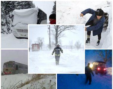Vremea rea face prăpăd în România! Mai multe autocare și trenuri pline cu pasageri au...