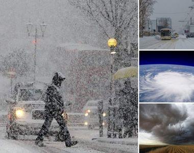 """Alertă meteo! Urgia albă se dezlănțuie în următoarele ore: """"Este un ciclon venit..."""