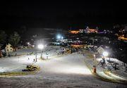 Spectacol pe zăpadă în Păltiniș. Amatorii de senzații tari au făcut un adevărat show
