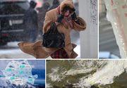 Alertă meteo cu efect imediat! Mai multe zone din țară lovite de viscol, în orele care urmează