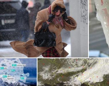 Alertă meteo cu efect imediat! Mai multe zone din țară lovite de viscol, în orele care...