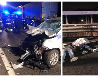 Tragedie pe o șosea din Italia! Cinci persoane au murit într-un accident cumplit!...