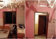 Explozie într-un bloc din Găești! Totul ar fi pornit de la o butelie