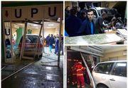 Clipe de panică la Craiova! Un șofer a intrat cu mașina în Spitalul Județean!
