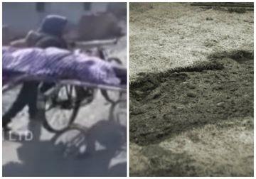 Nimeni nu l-a ajutat pentru că era sărac, așa că și-a dus mama moartă la groapă pe bicicletă