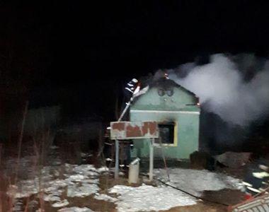 Incendiu la o casă  din Olt. Un bărbat a ars de viu