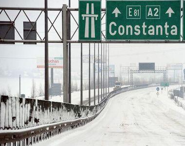 Autostrada A2 și alte patru drumuri naționale, ÎNCHISE din cauza poleiului. Mare...