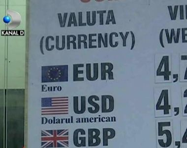 Moneda europeana a pus pe fuga leul romanesc