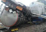 Cisternă lovită de un tren, în Portul Constanţa. Conducătorul locomotivei a fost rănit