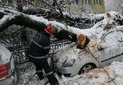 Bilanțul înghețului: 400 de intervenții în 24 de ore, 89 de mașini avariate
