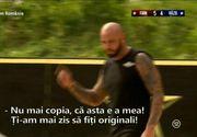 """Dispută Giani Kiriță - Costin Gheorghe la Exatlon! Ce schimb de replici au avut cei doi: """"Băi, nu mai copia"""""""