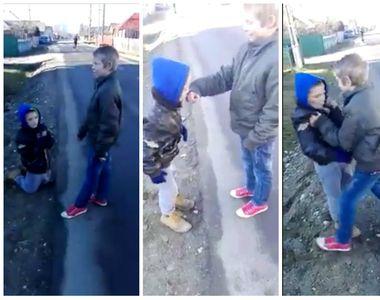 Copil din Neamț UMILIT în ultimul hal! L-au obligat să stea în genunchi pe marginea...