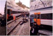 Tragedie feroviară în Spania! O persoană a murit și 100 au fost rănite după ce două trenuri s-au ciocnit în apropiere de Barcelona
