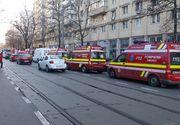 Incendiu într-un bloc din Capitală! Pompierii au evacuat locatarii