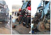 Accident între două TIR-uri în judeţul Hunedoara. Unul dintre şoferi a rămas încarcerat