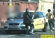 Bătaie ca-n Vestul Sălbatic pe o stradă din București! Mai mulți indivizi înamrmați s-au luptat în plină zi