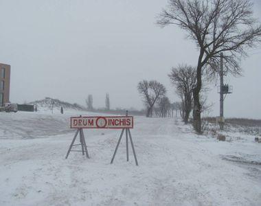 Drum închis din cauza viscolului