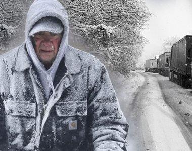 Vremea rea blochează din nou România! Câteva județe sunt paralizate de ninsori! E...