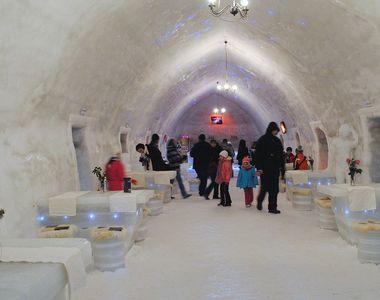 Spectacol culinar in inima Muntilor Fagaras, la hotelul de gheata de la Balea Lac!