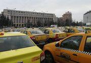 Trafic de coșmar în București. Centrul Capitalei, blocat de protestul taximetriștilor
