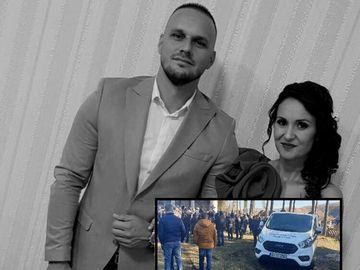 Imagini copleșitoare de la înmormântarea lui Alex Crăcui, tânărul care a murit pe scaunul de frizerie - E dureros ce s-a văzut la căpătâiul său! A lăsat-o în urmă pe fiica lui de 7 ani