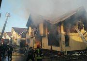 Două persoane au fost transportate la spital după ce un incendiu a cuprins un duplex, lângă Cluj-Napoca