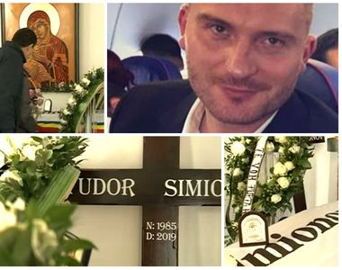 Imagini dureroase de la înmormântarea lui Tudor Simionov, sportivul român ucis la...