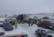 Nenorocire pe autostradă! Peste 130 de mașini, implicate în accident. A fost activat Planul Roșu de intervenție