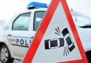 Un  șofer băut, fără permis și cu copilul în maşină, a fugit de Poliţie până a intrat într-un zid